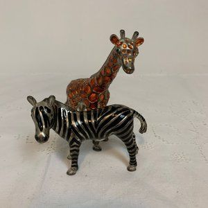 Godinger Giraffe & Zebra Salt & Pepper Shakers